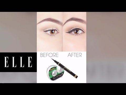 How to Use Scotch Tape to Perfect Liquid Eyeliner | ELLE