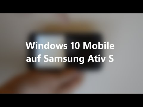 "Windows 10 Mobile auf Samsung Ativ S - ""Review"" 
