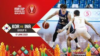 Korea v Indonesia | Asia Cup 2021 Qualifiers