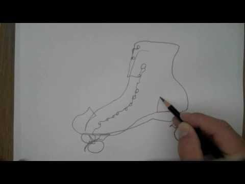 Contour Line Drawing Eye : Blind contour line drawing youtube