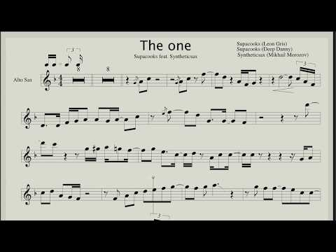 Supacooks feat. Syntheticsax – The One (Backing track & Sheet music for sax alto)