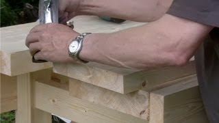 How To Build A Workbench - (part 11) Fitting The Well Board - With Paul Sellers