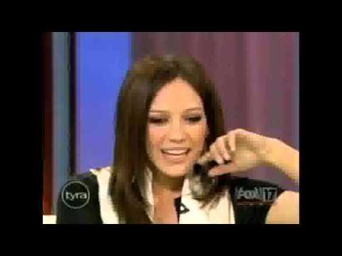 Hilary Duff on Tyra Bank  Part 1