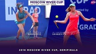 POLUFINALE TENIS OLGA DANILOVIĆ SRBIJA ALYAKSANDRA SASNOVICH BELARUS MOSCOW RIVER CUP 2018