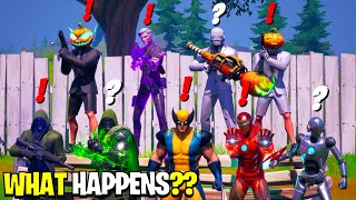 What Happens if ALL 9 Bosses Meet in Fortnite! | Boss Midas Meets Iron Man, Dr Doom & Henchmen!