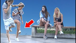 stepping over nothing prank - AWESOME REACTIONS -Best of Just For Laughs