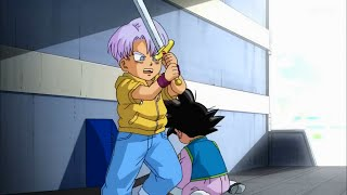 GOTEN & TRUNKS GET STUCK IN THE BUS OF MONAKA - Dragon Ball Super EP. 44 ENGLISH SUBBED (HD)