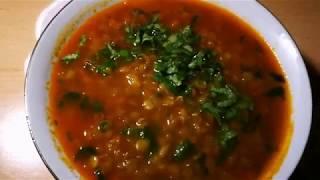 Asand və xeyirli, Yaşıl Mərci Şorbası. Суп из чечевицы, очень вкусный .