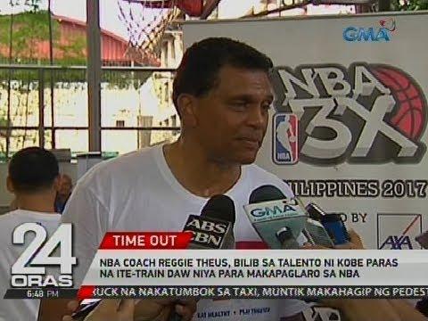 24 Oras: Coach Reggie Theus, bilib sa talento ni Kobe Paras na ite-train daw niya