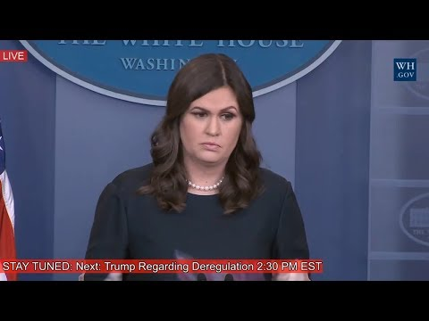Sarah Sanders White House Press Briefing on President Donald Trump Latest News 12/14/17 Trump News
