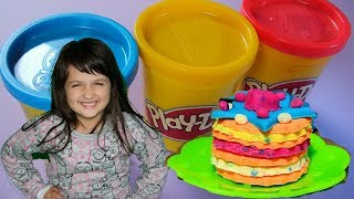 PLAY DOH Bakery Kitchen Creations Playset, Funny Girl Learn Colors with LOL Dolls & Nursery Rhymes