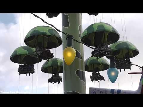 Toy Soldiers Parachute Drop Off Ride HD Walt Disney Studios
