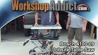 "Bosch 4100-09 10"" Jobsite Table Saw With Gravity-rise Stand"