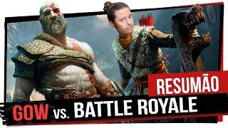 Resumão: God of War vs. Battle Royale, Pubg Grátis no PC, Game Cube Mini e muito mais! Game Over