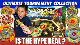 Beyblade Ultimate Tournament Collection Battle Test!  New Hasbro Beyblades Toys !