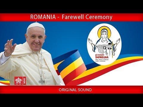 Pope Francis - Sibiu- Departure Ceremony 2019-06-02