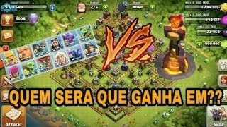 Clash of Clans:TODAS AS TROPAS VS TORRE INFERNO NIVEL 6