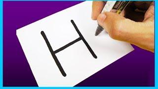 Karikatür bir EVE Mektup ''H'' nasıl açabilirim. Çocuklar için kolay Çizim Eğlenceli Fikirler Çizim