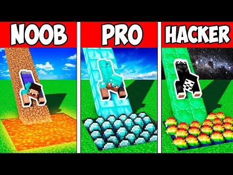 Minecraft NOOB vs PRO vs HACKER : BLOCK SLIDE PRESENT in Minecraft | Animation
