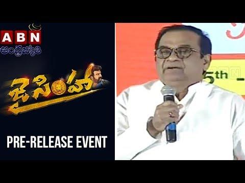 Brahmanandam Funny Speech At Jai Simha...