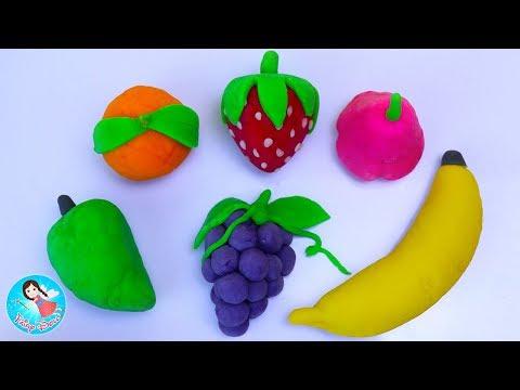 ของเล่นปั้นแป้งโดว์  Play Doh ปั้นแป้งโดว์ผลไม้ สอนปั้นดินน้ำมัน วีดีโอสำหรับเด็ก