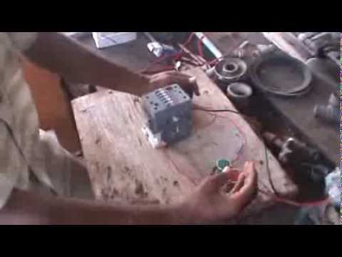 How to wire Push Buttons with a Holding Circuit with for a Contactor Coil.