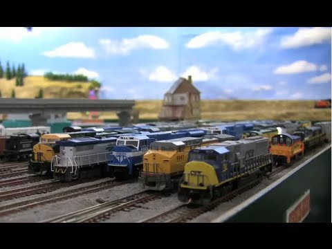 Modelling Railroad Train Track Plans -A Very Animated N-scale Train Layout