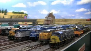 A Very Animated N-scale Train Layout