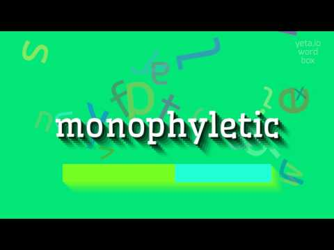 "How to say ""monophyletic""! (High Quality Voices)"