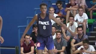Adama Bal - Rushes France-Italie (Pré Eurobasket U16 2019)