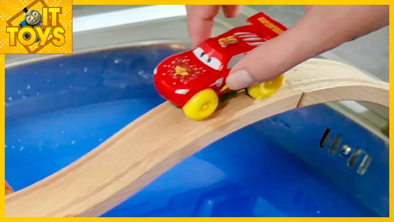 Learn colors toys review #1 Disney Cars and Thomas with Nursery Rhymes song