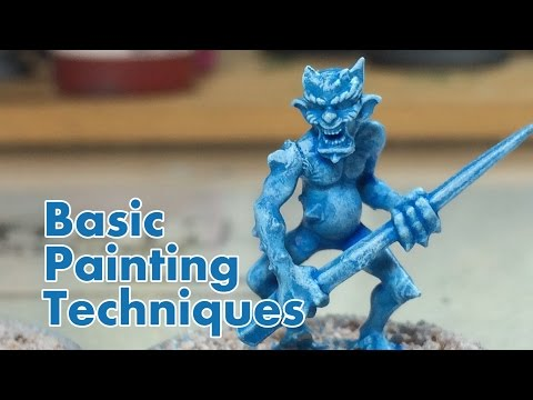 How to Paint Miniatures - The Basics - NPC Chris Vlog 004
