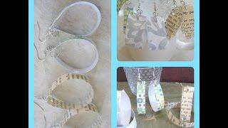 DIY Recycled Bottle Earrings /How To Make Recycled Plastic Bottle Earrings - Tutorial