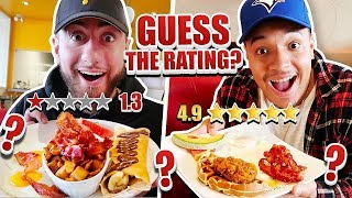 Eating At The BEST or WORST Reviewed Restaurant!! (Guess The Food Rating)