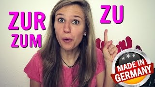 THE DATIVE part 5: The German prepositions ZU, ZUR, ZUM ( Dative! )