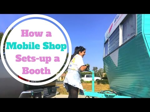 Popsikle Shop Mobile Boutique Vintage Trailer Sets Up a Vendor Booth// Anaheim, CA