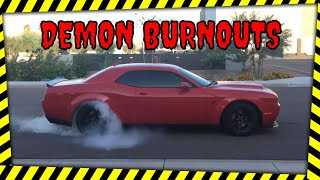 Dodge Demon gets its first wash... But first- we do BURNOUTS!!