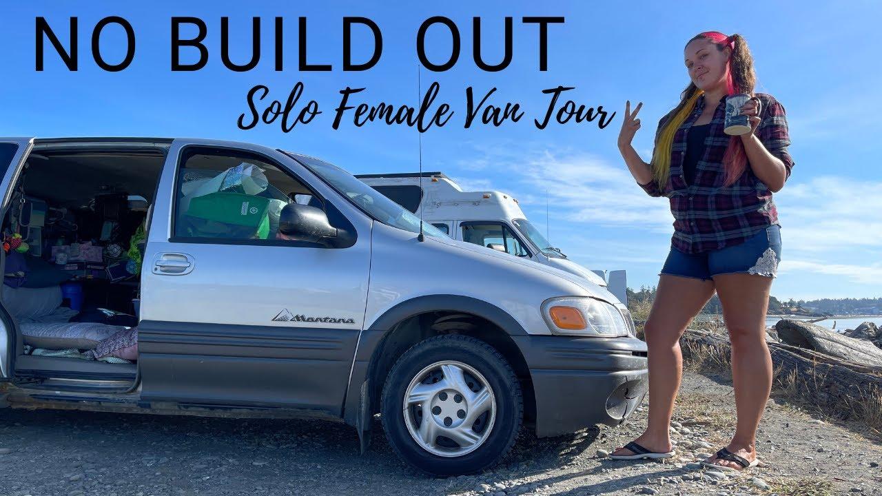 """Download SOLO FEMALE Starts Van Life With NO BUILD Inside Her Mini Van """"True Inspiration"""" VAN TOUR"""