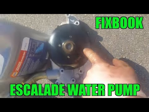 "Water Pump Remove Replace ""How to"" 02-06 Cadillac Escalade"