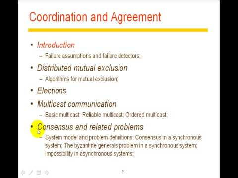 20091020 Distributed System@FJU CSIE Coordination Agreement - 1