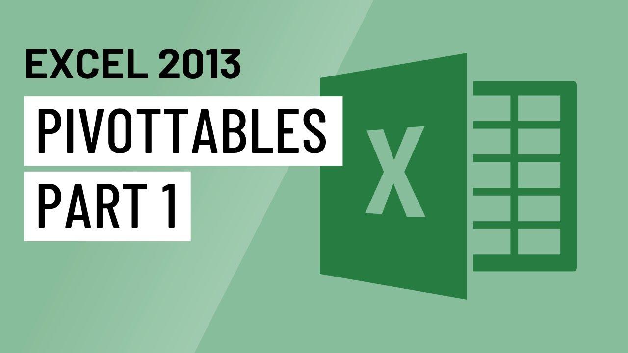 Excel 2013: PivotTables