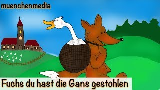 Kinderlieder deutsch - Fuchs du hast die Gans gestohlen - Kinderlieder zum Mitsingen
