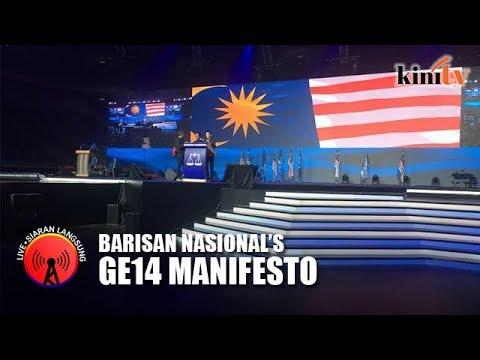 Barisan Nasional launches GE14 manifesto