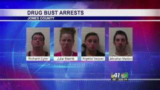 Jones County Sheriffs Deputies Make Four Arrests Drug Bu