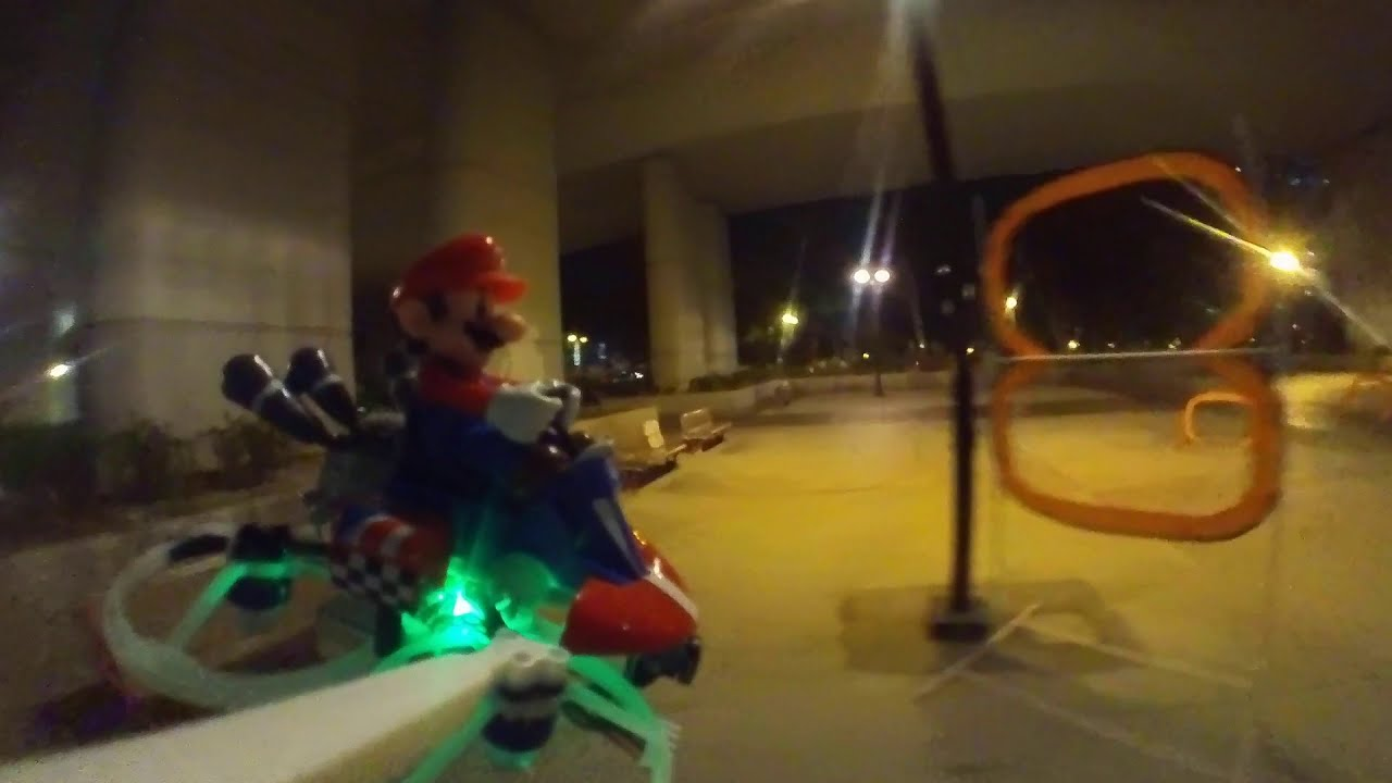 Flying Mario with Insta360 go at Night