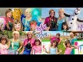 Frozen Elsa and Anna PLAY with Kate & Lilly Collection!