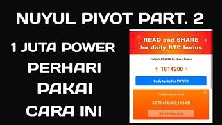 1 JUTA POWER PERHARI | BEGINI CARA NUYULNYA!!! APLIKASI PENGHASIL UANG DOLAR BENTUK BITCOIN TERBARU