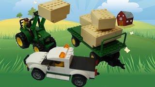 Mega Bloks John Deere Bale Transport Unit 80841|Tractor lifting bales |Blue Orange toys review