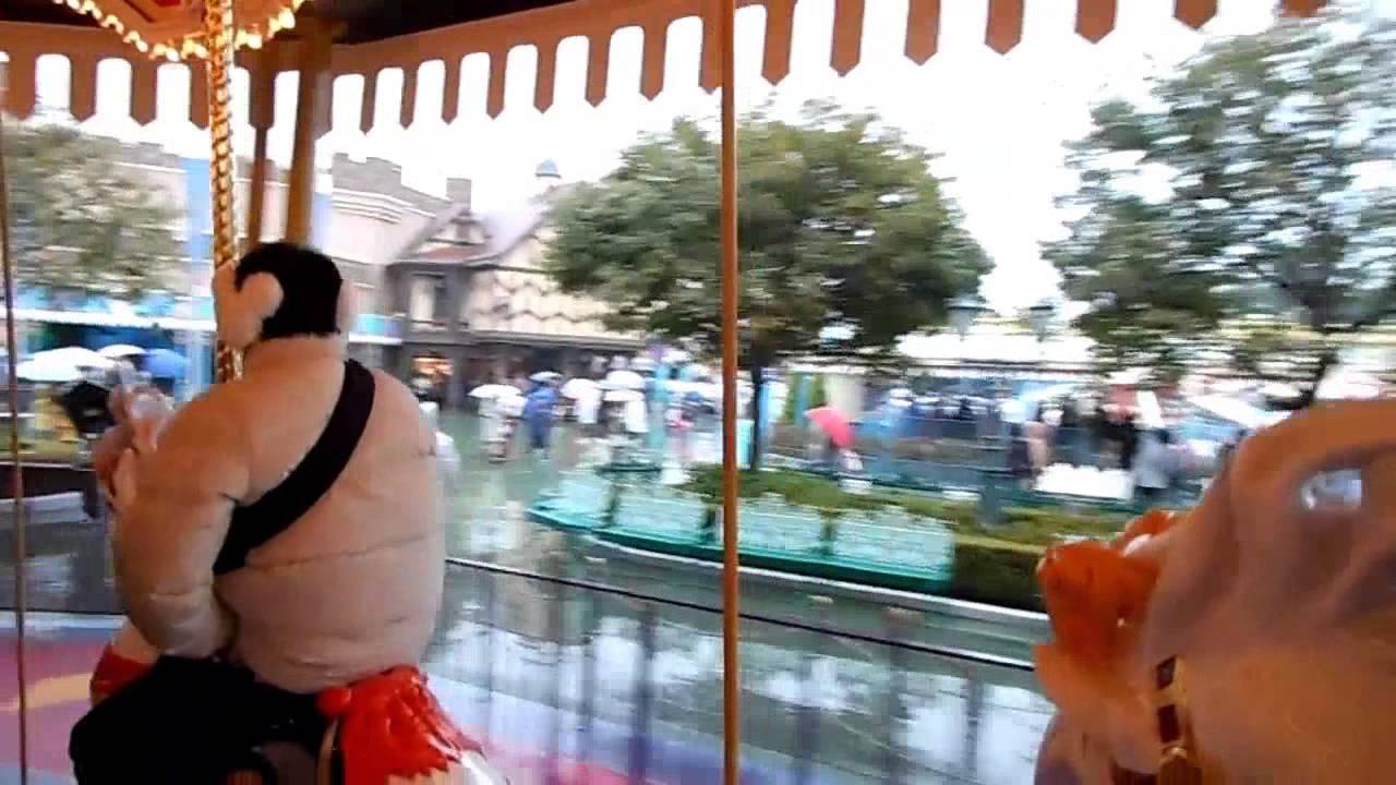 Castle Carrousel Merry Go Round Tokyo Disneyland Ver Youtube