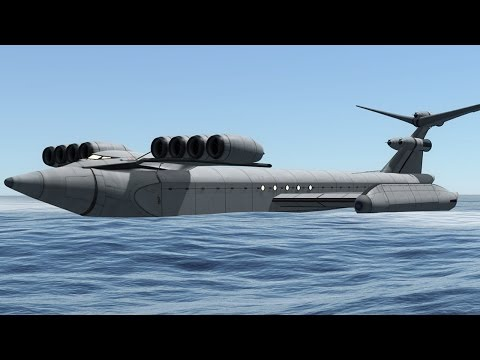 KSP: The Caspian Sea Monster (Ekranoplan)